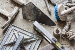 Outils de mortier photographie stock