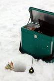 Outils de pêche de glace Images stock