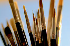 Outils de peintre Image libre de droits
