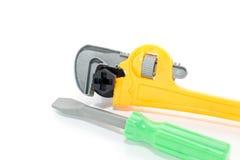 Outils de plastique de jouet Photographie stock