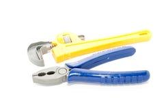 Outils de plastique de jouet Photo libre de droits