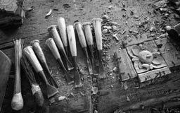 Outils de sculpture Photo libre de droits