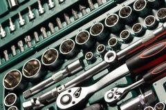 Outils de service et ensembles automatiques de rochet Images libres de droits