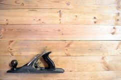 Outils de travail du bois - avion de main image stock