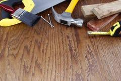 Outils de travail sur le bois photos libres de droits