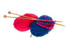 Outils de tricotage Photographie stock