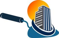 Outils de truelle avec le logo de bâtiment illustration libre de droits