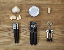 Outils de vaisselle de cuisine assortissant des articles pour l'usage Images libres de droits
