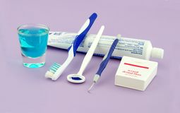 Outils dentaires de santé Image libre de droits