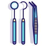 Outils dentaires LineColor illustration libre de droits