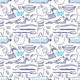 Outils dentaires sans couture illustration stock