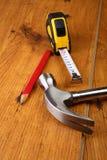Outils du `s de charpentier Image stock