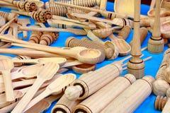 Outils en bois Photos stock