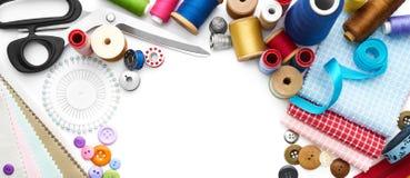 Outils et accessoires de couture Images stock
