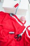Outils et accessoires de couture Photos stock