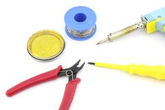 Outils et accessoires de soudure Image stock