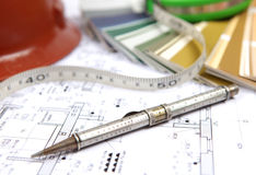 Outils et accessoires pour la rénovation à la maison Illustration de Vecteur