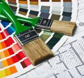 Outils et accessoires pour la rénovation à la maison Images stock