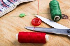 Outils et kit de couture de couture Image libre de droits