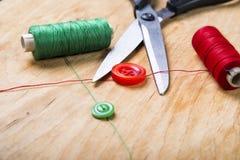 Outils et kit de couture de couture Photo libre de droits