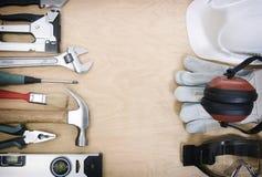 Outils et le matériel de protection Images libres de droits