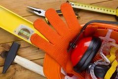 Outils et matériaux de construction Photographie stock libre de droits