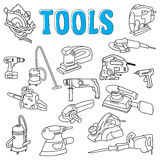 Outils fonctionnants de construction Photos libres de droits