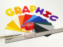 Outils graphiques Photo stock