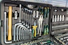 Outils mécaniques professionnels pour le service automatique Image stock