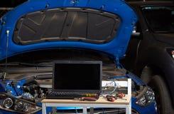 Outils modernes pour le diagnostic de voiture Photos stock