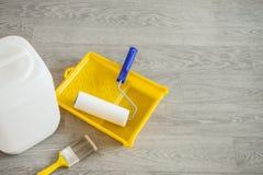 Outils pour amorcer les surfaces plâtrées Photo libre de droits