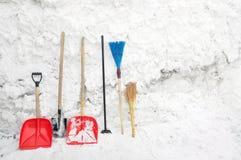 Outils pour dégager la neige Photos stock