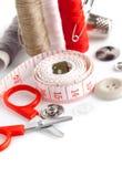 Outils pour des ciseaux d'amorçage de couture Images stock