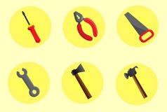 Outils pour des constructeurs illustration libre de droits