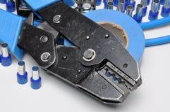 Outils pour des sertisseurs d'électriciens Photos libres de droits
