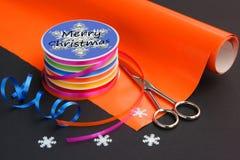 Outils pour emballer des cadeaux Images libres de droits