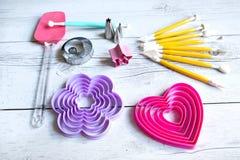 Outils pour faire des biscuits Photographie stock