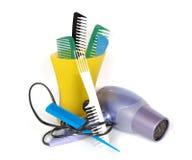Outils pour l'emballage du cheveu Image libre de droits