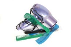 Outils pour l'emballage du cheveu Images libres de droits