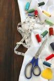 Outils pour la couture Photo libre de droits