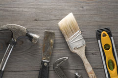 Outils pour la rénovation Images stock