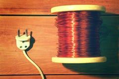 Outils pour la réparation de l'électricité Vintage industriel Photo stock