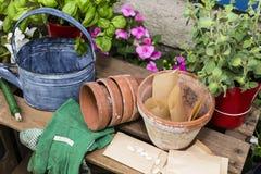 Outils pour le jardinage Photo stock