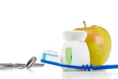 Outils pour le soin et le traitement des dents, concept Photo libre de droits