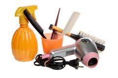 Outils pour un salon de coiffure Photographie stock