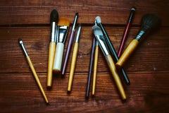 Outils professionnels d'artiste de maquillage Photo stock