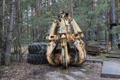 Outils radioactifs dans Pripyat, Ukraine Photo libre de droits