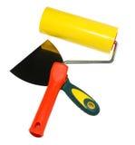 Outils : rouleau, couteau de palette, spatule. d'isolement Image libre de droits