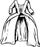 Outined 18世纪圆的褂子 库存例证