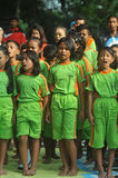 Outing Class Student. Children sing during the outing to the city park in Solo, Indonesia Stock Photography